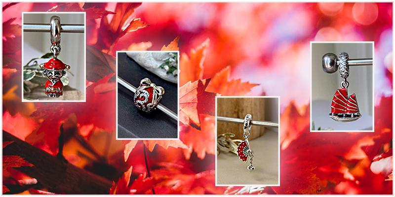 Pandora piros ékszerek
